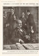 1919 ANTIQUE PRINT-IRISH QUESTION-COMMITTEE TO DRAFT NEW BILL,NAMED,2 PRINTS