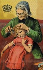Garland Stoves & Ranges Old Lady Combing Little Girl's Hair F76