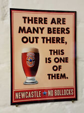 NEWCASTLE BROWN ALE METAL SIGN, 2 Sizes Available ideal for pub, bar, Man Cave