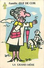 SPORT RUGBY FAMILLE GRAND MERE SUPPORTER 50s PLAYING CARD CARTE A JOUER