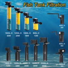 Biological Fish Tank Aquarium Internal Submersible Water Filter Pump 300-2200L/h