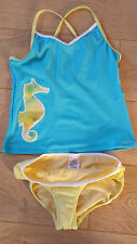 Brand New Sea Horse Printed Tankini Set Age 10-11 years by Land's End
