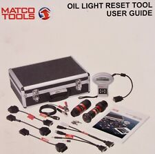 MATCO Tools Oil Light Reset Tool Kit BENZ BMW VOLVO MD3596G-8 w/ OBD Adapters