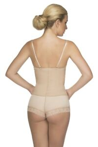 VEDETTE. 304.Dual Control Strapless Bodysuit. SIZE XS(32).CAMEL. FREE SHIPPING