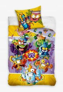 Super Zings Reversible Bedding Set Duvet Quilt Cover Pillow Case 100% Cotton