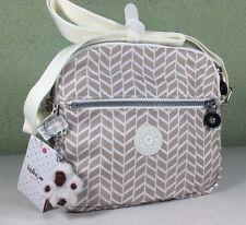 New $79 Kipling Keefe Creme Beige Combo Printed Crossbody or Shoulder Bag