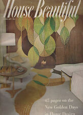 HB HOUSE BEAUTIFUL 2-57 FEBRUARY 1957 RETIREMENT COLOR GOLD ATOMIC RANCH MID MOD