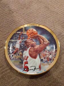 """Michael Jordan """" The Comeback """" Collectors Plate Upper Deck Bradford  #'d"""