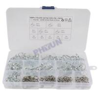 150Pcs Double Wire Fuel Line Hose Tube Spring Clamp Assortment Φ5-Φ14