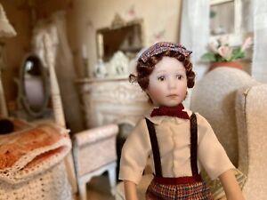 Dollhouse miniature dollhouse Boy Doll Adorable  1:12
