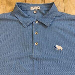 Peter Millar Summer Comfort Abstract Geometric Polo Shirt XL Mammoth Dunes Golf