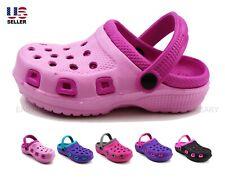 Kids Girls Toddler Slippers Clogs Rubber Shoes Sandals Water Beach Garden Summer