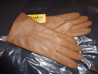 New Deadstock Kinkid Fownes Size A Brown Faux Leather Ladies Gloves NWT