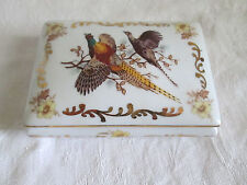 BOITE A BIJOUX BONBONNIERE LIMOGES OISEAUX  TRINKET BOX LIMOGES DECORATED BIRDS