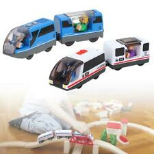Magnetic Connected Electric Train Toy Compatible With The Wooden Track Of BRIO