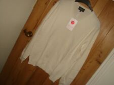 eric bompard designer pure cashmere sweater jumper mens brand new cream large