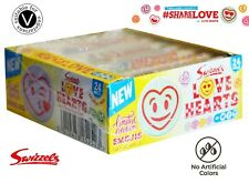 NEW Swizzels Emoji Love Heart sweets BOX of 12 X 39g rolls wedding valentine