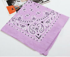 100% Cotton Paisley Bandana Head Wrap Scarf Wristband Handkerchief Double Sided