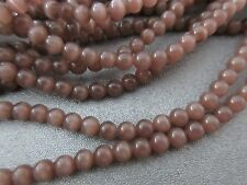 Chocolate Cat's Eye Round 4mm Beads 105pcs