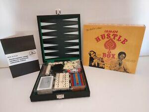 Colorado Hustle Box Set 6 in 1 Black Attache Travel Game Set