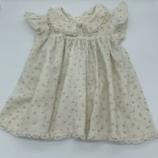 Vintage Sears Perma Prest Floral Dress Size M Flowers and Lace