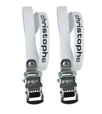 Zefal Classic Christophe Leather Toe Straps - White