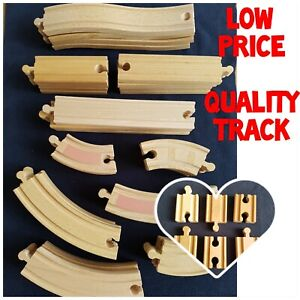 Quality Wooden Train Track BRIO & Comp Curved Straight Connector Bendy Low Price