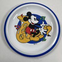 "Vintage Cole & Mason Disney Mickey Mouse Saxophone 7"" Melamine Children's Plate"