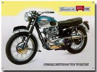 TRIUMPH BONNEVILLE T120C MOTORCYCLE ENAMELLED METAL SIGN.VINTAGE MOTORCYCLE.