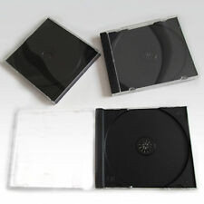 50 x Single CD Jewel Case Cases 10mm 10.4mm Black Tray HIGH QUALITY PLASTIC