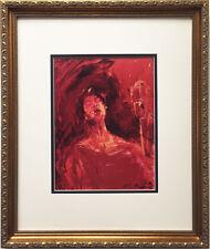 "LeRoy Neiman ""Ella Fitzgerald"" Newly Custom FRAMED Art print QUEEN OF JAZZ"