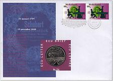 Niederlande - ECU- Brief Nr. 24, 200. Geburtstag Franz Schubert