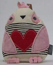 Valentine's Day Hallmark Inspirations Striped Plush Stuffed Bird NWT