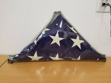 USA American Military Funeral Casket Burial Flag with Plastic Storage Cover