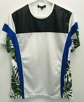 INC International Concepts Mens Medium Mesh Tropical Shirt
