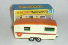 Antiguo Lesney Matchbox Superfast 57 Coche Auto a Escala Toys Caravana Remolque