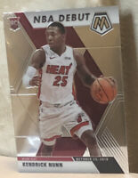 2019-20 Panini Mosaic NBA DEBUT #268 KENDRICK NUNN RC Miami Heat Rookie