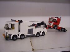 LEGO CITY CUSTOM HEAVY HAULER TOW TRUCK + RED TRUCK  L@@K