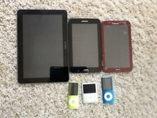 3 samsung tablets & Apple ipods for parts only