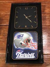 "Vintage New England Patriots Wall Clock Football/NFL 20X10"" Man Cave Decor WORKS"