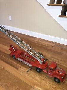"Smith Miller 35"" Mack S.M.F.D Aerial Ladder Fire Truck  Vintage 1950's"
