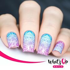 P117 Lace Up Water Decals Sliders for Nail Art Design