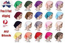Muslim Hijab Inner cap Under Scarf Cap Tube Bonnet  Head Cover Hat Aus Stock