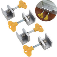4 Pcs Adjustable Sliding Window Locks Door Frame Security Locks With Key