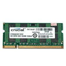 2GB (1x 2GB) Crucial PC2-5300 667Mhz RAM DDR2 Laptop Memory 200-pin
