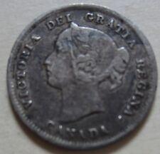 1899 Canada Silver Five Cents Coin. NICE GRADE (F454)