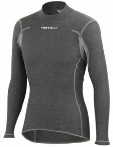 Castelli FLANDERS LS Long Sleeve Thermal Cycling Base Layer : XL GREY