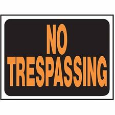 "HyKo 20401990 No Trespassing 9"" X 12"" - Plastic"