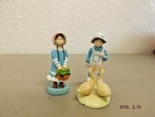 Lot of 2 Vintage Holly Hobbie Miniature Cast Iron Figurines American Greetings