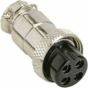 4 Pin Round Microphone Connector for Kenwood Icom Yaesu Alinco